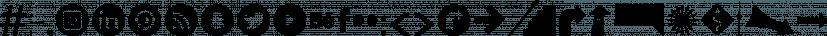 Icons Dingbats Symbols Set font family by Typo Graphic Design