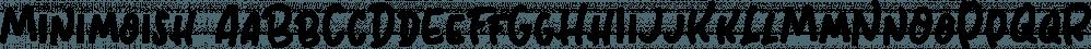 Minimoish font family by Letterhend Studio