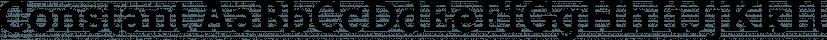 Constant font family by Underscore
