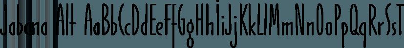 Jabana Alt font family by TypeMates