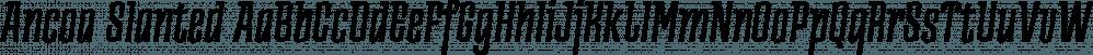 Ancoa Slanted font family by Rodrigo Typo