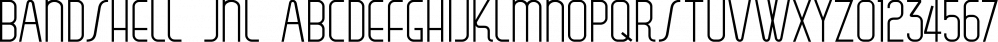 Bandshell JNL font family by Jeff Levine Fonts