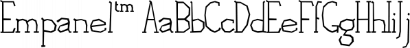 Empanel™ font family by MINDCANDY