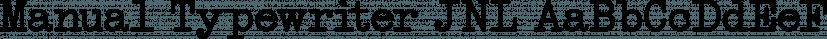 Manual Typewriter JNL font family by Jeff Levine Fonts