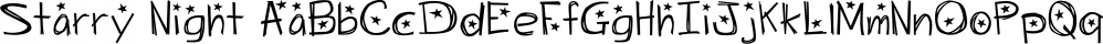 Starry Night font family by Lauren Ashpole
