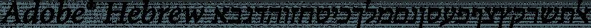 Adobe® Hebrew font family by Adobe