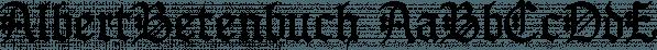 AlbertBetenbuch font family by Ingrimayne Type