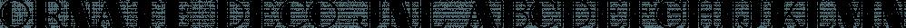 Ornate Deco JNL font family by Jeff Levine Fonts