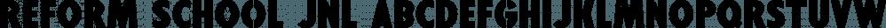 Reform School JNL font family by Jeff Levine Fonts