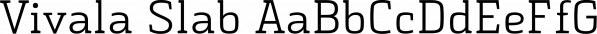 Vivala Slab font family by Johannes Hoffmann