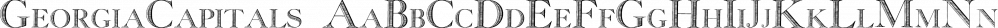 GeorgiaCapitals font family by Intellecta Design