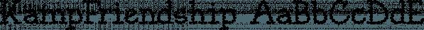 KampFriendship font family by Ingrimayne Type