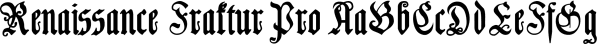 Renaissance Fraktur Pro font family by SoftMaker