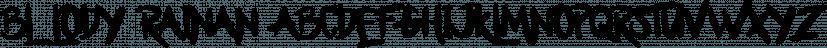 Bllody Rainan font family by madeDeduk