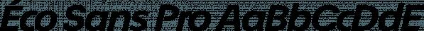 Éco Sans Pro font family by ingoFonts