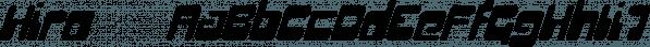 Hiro™ font family by MINDCANDY