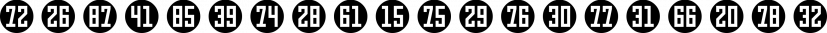 Numbers Style Three font family by Gerald Gallo Fonts