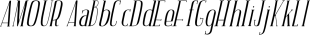 AMOUR font family mini