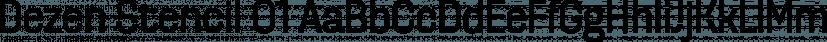 Dezen Stencil 01 font family by DizajnDesign
