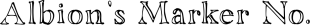Albion's Marker No.1 font family mini