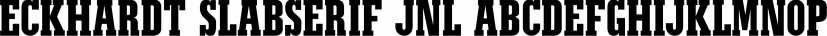 Eckhardt Slabserif JNL font family by Jeff Levine Fonts