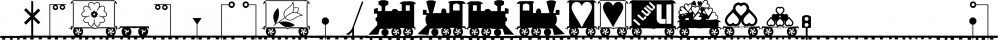 XLaserTrain font family by Ingrimayne Type