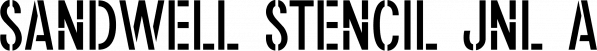 Sandwell Stencil JNL font family by Jeff Levine Fonts