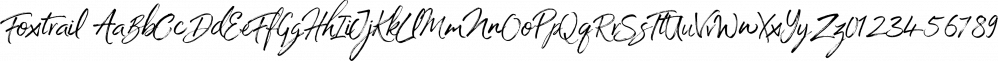 Foxtrail font family by Ian Barnard