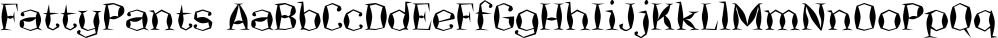 FattyPants font family by Ingrimayne Type