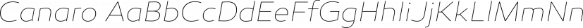 Canaro font family by René Bieder