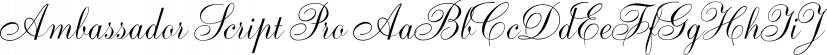 Ambassador Script Pro font family by Canada Type