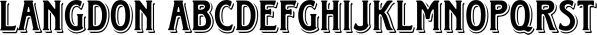 Langdon font family by FontSite Inc.