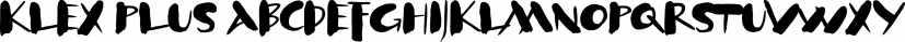 Klex Plus font family by ingoFonts