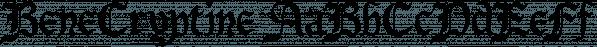 BeneCryptine font family by Ingrimayne Type