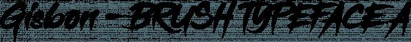 Gisbon - BRUSH TYPEFACE font family by madeDeduk