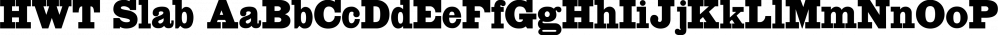 HWT Slab font family by Hamilton Wood Type