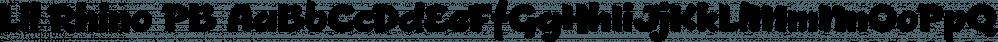 Lil Rhino PB font family by Pink Broccoli