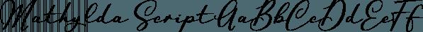 Mathylda Script font family by Eurotypo