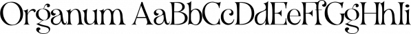 Organum font family by Vintage Voyage Design