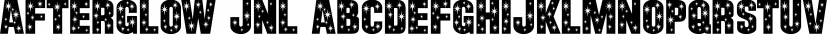 Afterglow JNL font family by Jeff Levine Fonts