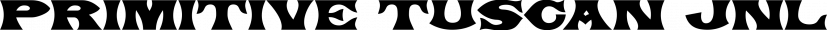 Primitive Tuscan JNL font family by Jeff Levine Fonts