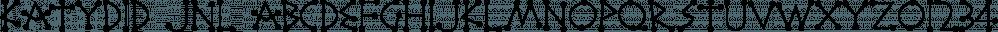 Katydid JNL font family by Jeff Levine Fonts