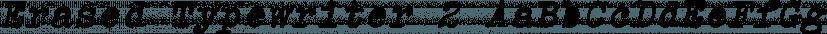Erased Typewriter 2 font family by Intellecta Design