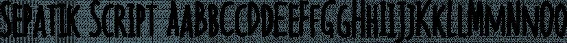 Sepatik Script font family by Bonjour Type