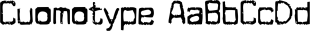 Cuomotype font family mini