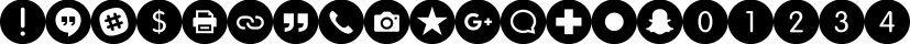 Social Networking Icons font family by Matt Grey Design
