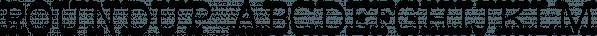 RoundUp font family by Ingrimayne Type