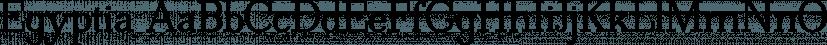 Egyptia font family by Wiescher-Design