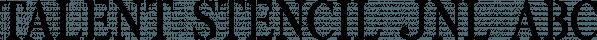 Talent Stencil JNL font family by Jeff Levine Fonts