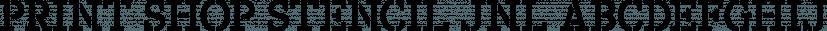 Print Shop Stencil JNL font family by Jeff Levine Fonts